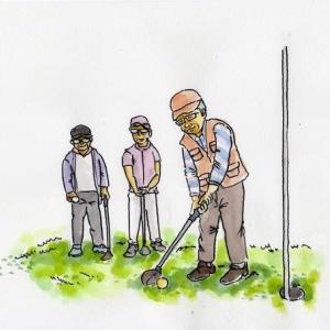町内会のパークゴルフ大会に参加しました