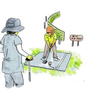 高齢者クラブのパークゴルフ大会に参加