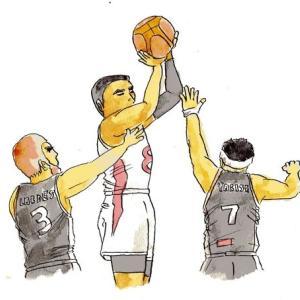 男子バスケット歴史的勝利