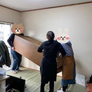 ⑤家族も快適に❗️在宅ワークスペースづくり(和室家具移動)