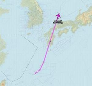 【南北朝鮮を監視・偵察】米偵察機が今度は朝鮮半島東の海上に 北朝鮮の潜水艦基地を偵察か