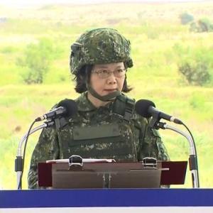 台湾総統「国家の安全は媚びへつらうことに頼るものではない。堅実な国防が拠り所だ」