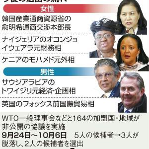 【韓国悲報】WTO事務局長選、中国の主張認めた判断に米国反発、越年も
