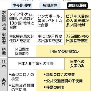 【菅内閣】中国、韓国など 滞在72時間以内の入国受け入れへ…ビジネス目的、待機措置は免除