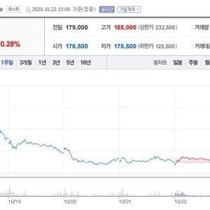 【韓国】 暴落するBTS株に対して「投資額が半分」と国民請願まで登場…下落の原因は?