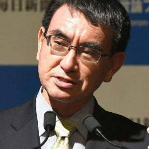 【毎日新聞世論調査】「首相にふさわしい人」河野氏トップ 菅首相は3位に転落