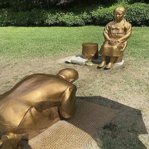 韓国の植物園長「慰安婦に土下座して謝罪する安倍前首相の像」東京で展示を検討