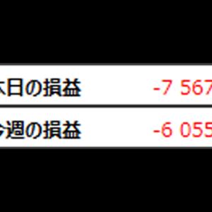 ガチトレード3日目 -7567円 自分が壊れた