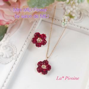 Mini MILI Flower、大好きな赤でリングも制作〜♡