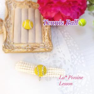 《レッスン報告》テニスボールのポニーフックをお作りくださいました