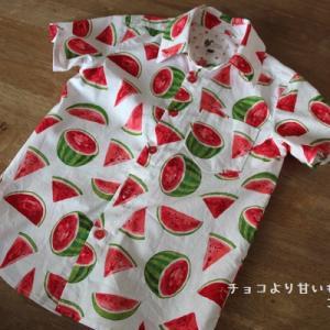 muniさんパターンのシャツインセットのシャツのみ、130男の子用☆