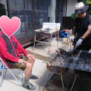 炭火で秋刀魚♪