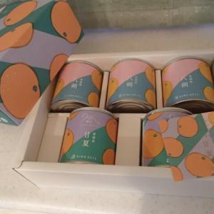 KDDIより株主優待 甘夏、はっさく、缶詰届きました。