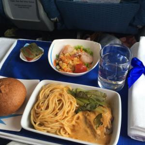 バンコクエアウェイズ機内食 PG805 C サムイ香港 USMHKG ビジネスクラス AUG19 ブルーリボンクラス