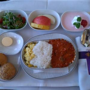 タイ国際航空機内食 TG635 C ソウル仁川台北 ICNTPE ビジネスクラス SEP19 Thai Airways 以遠権