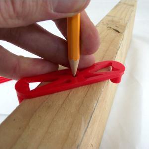 【3Dプリンター活用】材料の真ん中にしるしをつけることができるアイデア | TikiLuke - Center Finder For Edges Set