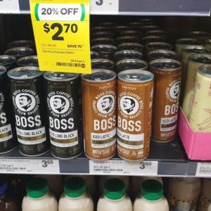サントリーの缶コーヒー Boss がオーストラリアも発売開始