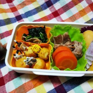 塾弁当(中学受験)、肩ロースの煮豚