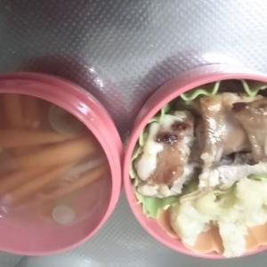 女子中学生弁当、鶏の照り焼き