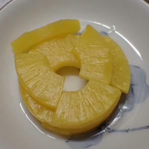 懐かしさとともに、パイナップルの缶詰