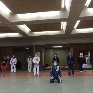 7月11日(土)練習再開後6度目の練習会でした。感染予防対策をして4カ月ぶりに『組む練習』も少しだけ♪                東京都練馬区TOYATT柔術練習会