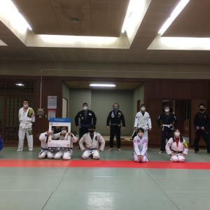 10月18日(日)完全予約制+検温+消毒+換気+マスク+ソーシャルディスタンスで13人で練習しました♪                東京都練馬区TOYATT柔術練習会
