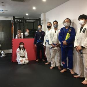 10月23日(金)完全予約制+検温+消毒+換気+マスク+ソーシャルディスタンスで7人で練習しました♪                 東京都練馬区TOYATT柔術練習会