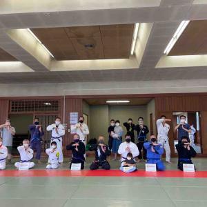 6月26日(土)『練馬区立総合体育館』での練習でした。帯昇格式でした!感染予防対策にご協力いただきました! 練馬区生涯学習団体・TOYATT柔術練習会