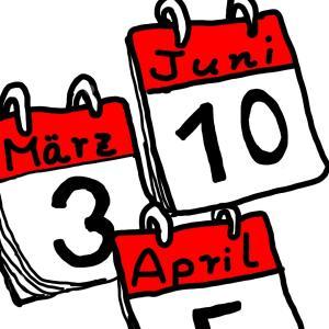 【ドイツ語日付】今日は何日? 誕生日はいつ?