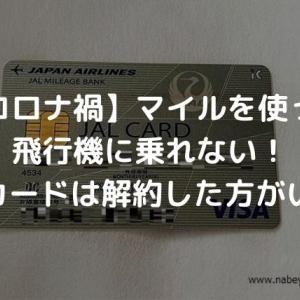 【コロナ禍】マイルを使って飛行機に乗れない!JALカードは解約した方がいい?