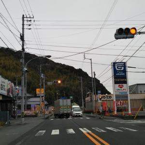 曇り空の下高串~大師前バス停