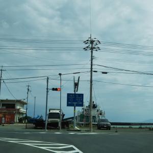 梅雨明け間近の大洲市長浜港