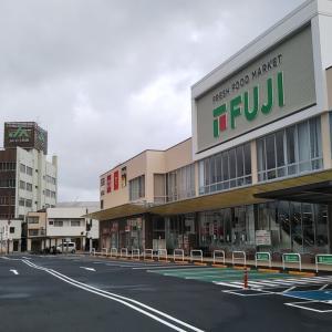 台風直後のフジ宇和島店~しんばし本店前