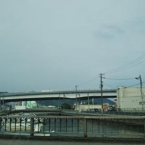 梅雨空の保田下橋~渦尻橋