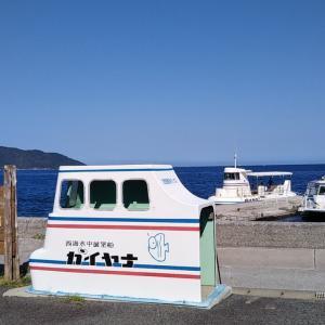 夏の愛南町鹿島観光船のりば~船越
