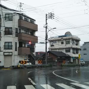 秋雨の市立宇和島病院