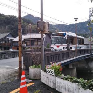 曇り空の吉田町桜橋~聖人寺橋