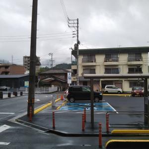 雨上がりの大洲市中村踏切周辺