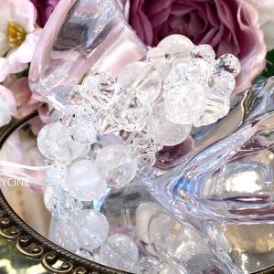 ブラジル水晶とヒマラヤ水晶で作った2本の新作パワーストーンブレスレット♪比べてみました①