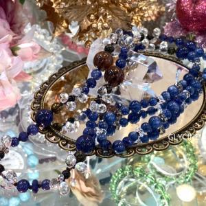 青いサファイアのロングネックレスとブラウンカラーのトルマリン♪お客様からの嬉しいオーダーメイド②