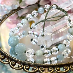五徳を高める♪5月の誕生石ヒスイと水晶のパワーストーブレスレット②冬の鴨川と青空