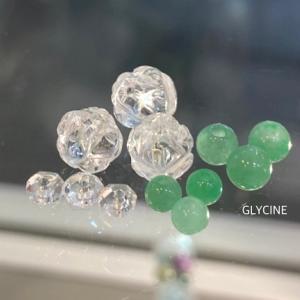 翡翠と水晶のパワーストーブレスレット2本目と3本目♪5月の誕生石ブレスがたくさん~!②