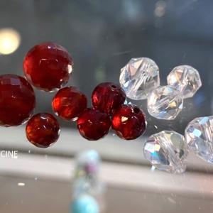 誕生石プラス水晶のパワーストーブレスレット作りに夢中!5月の誕生石と1月の誕生石をもう少し♪②