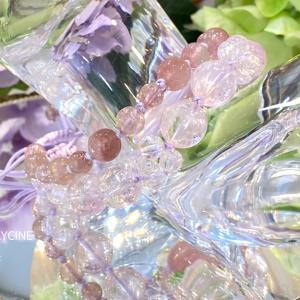 大人ピンクの天然石♪気品あふれる輝きのクンツァイトのパワーストーンブレスレットが出来ました②