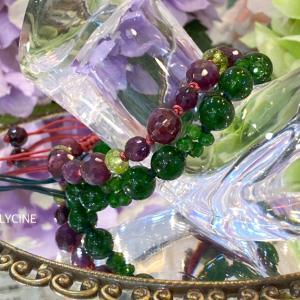 美しすぎる深いグリーンの天然石♪クロムダイオプサイドでお供ブレスを作りました②