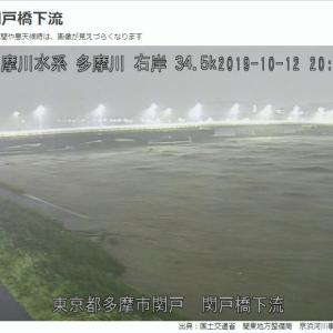 多摩川の水位が・・