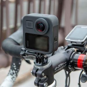GoProを「ロードバイクのステムキャップ」に装着するマウント。