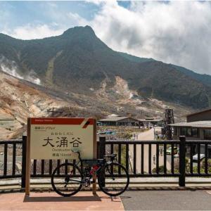ロードバイクで大涌谷と仙石原へ。夏の箱根を走ってきた