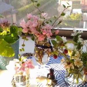 ブリキとお花と今空。。