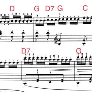 伴奏の譜読みは、「引き算」を使うと便利な時がある。
